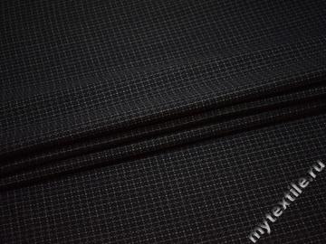 Костюмная тёмно-серая ткань из шерсти и полиэстера ГД317