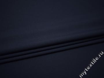 Костюмная синяя ткань шерсть полиэстер ГД153