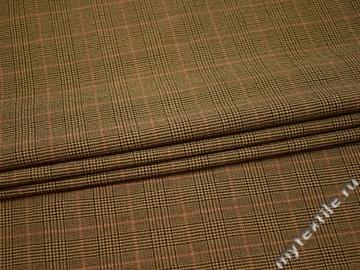 Костюмная бежевая ткань полиэстер шерсть эластан ГД39