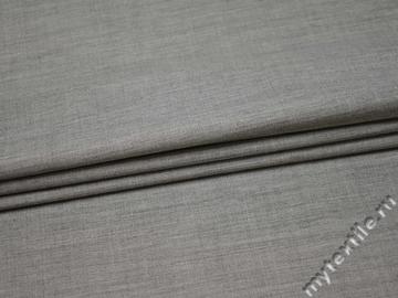Костюмная серая ткань шерсть полиэстер  ГД267