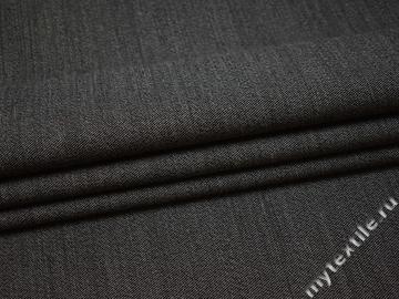 Костюмная серая ткань шерсть полиэстер  ГД145