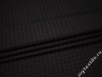 Костюмная коричневая ткань шерсть хлопок ГД152