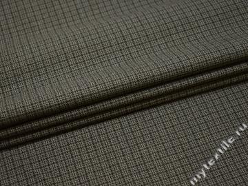 Костюмная зеленая ткань шерсть полиэстер ГД262
