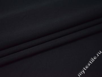 Костюмная тёмно-синяя ткань шерсть полиэстер ГД240