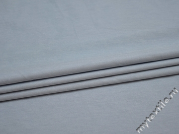Костюмная голубая ткань хлопок полиэстер эластан  ВГ44