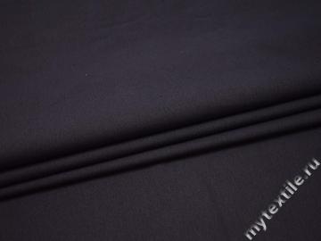 Костюмная темно-фиолетовая ткань хлопок эластан  ВГ48