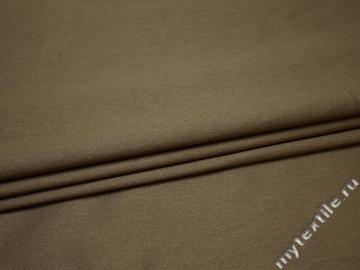Костюмная бежевая ткань хлопок эластан ВГ410