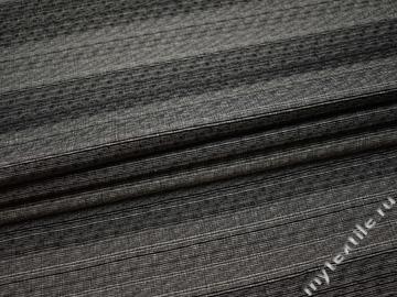 Костюмная черно-серая ткань хлопок полиэстер ВВ54
