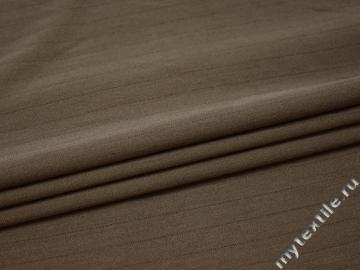 Костюмная бежевая в полоску ткань полиэстер эластан ВВ58