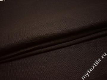 Костюмная коричневая ткань хлопок полиэстер эластан ВГ327