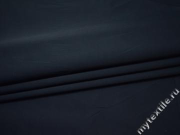 Костюмная синяя ткань хлопок полиэстер эластан ВГ337