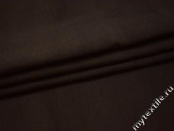 Костюмная коричневая ткань хлопок полиэстер эластан ВБ440