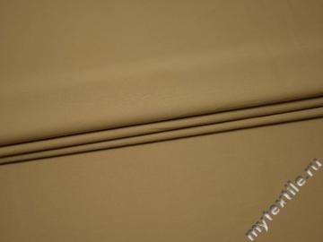 Костюмная бежевая ткань из хлопка ВГ257