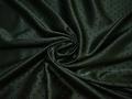 Подкладочная зеленая ткань геометрический узор полиэстер ГА191