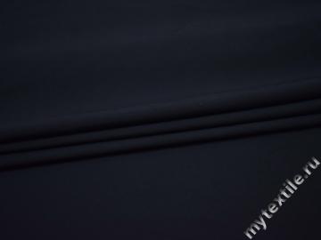 Костюмная тёмно-синяя ткань полиэстер эластан ВГ21