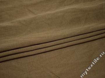 Костюмная бежевая фактурная ткань вискоза полиэстер ВГ443