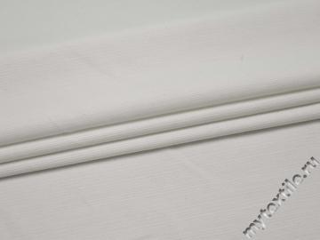 Костюмная белая ткань хлопок ВГ442