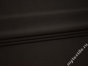 Костюмная коричневая ткань шерсть полиэстер эластан ВГ228