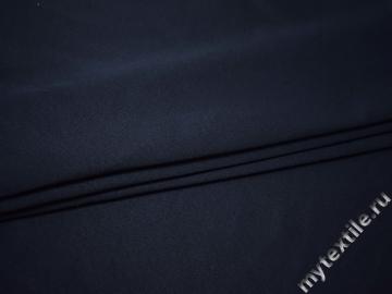 Костюмная тёмно-синяя ткань хлопок полиэстер ВГ220
