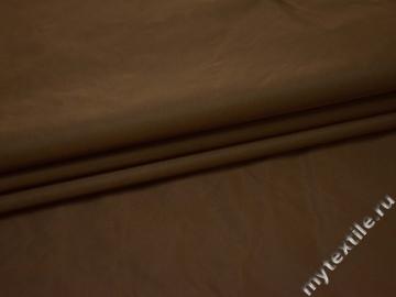 Курточная однотонная коричневая ткань полиэстер Б/Е1-99