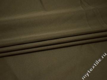 Курточная однотонная цвета хаки ткань полиэстер Б/Е1-86