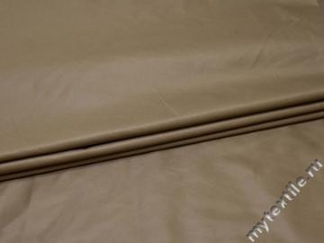 Курточная однотонная бежевая ткань полиэстер Б/Е1-80