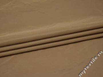 Курточная однотонная бежевая ткань полиэстер Б/Е1-71