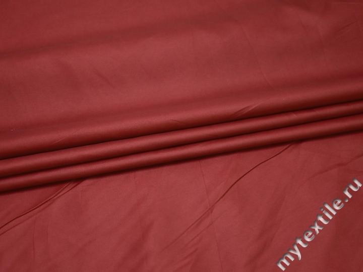 Курточная однотонная бордовая ткань полиэстер Б/Е1-67