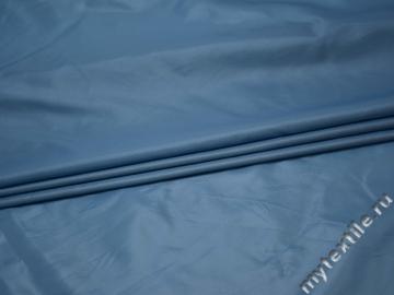 Курточная однотонная голубая ткань полиэстер Б/Е1-66