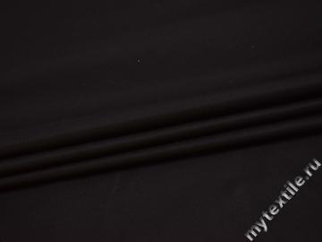 Курточная однотонная черная ткань полиэстер Б/Е1-48