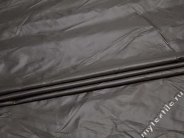 Курточная однотонная серая ткань полиэстер Б/Е1-45