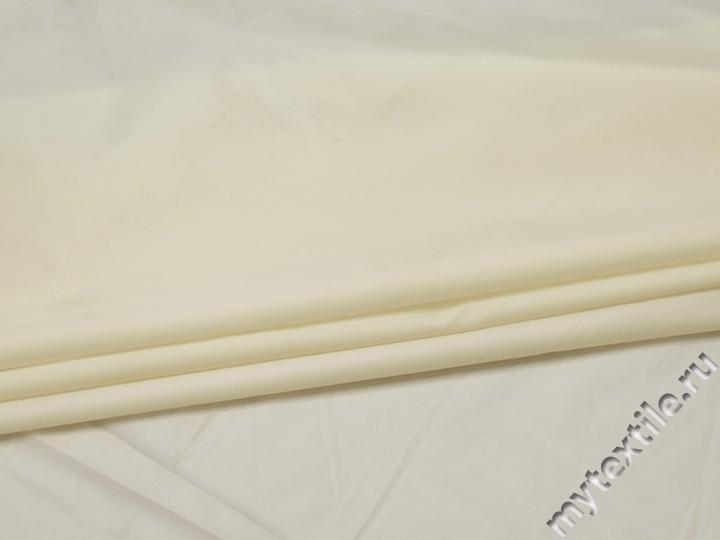 Курточная однотонная молочная ткань полиэстер Б/Е1-42