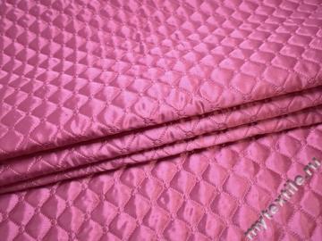 Подкладка стеганая розовая из полиэстера ДГ458
