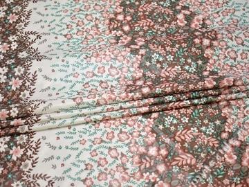 Курточная с цветочным принтом ткань полиэстер Б/Е2-90
