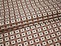 Курточная с геометрическим принтом ткань полиэстер Б/Е2-82