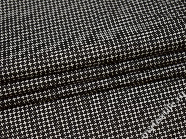 Курточная ткань с геометрическим узором полиэстер Б/Е2-40