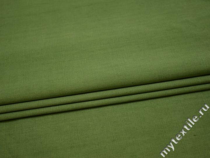 Курточная зеленая ткань полиэстер Б/Е2-6