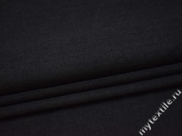 Костюмная ткань темно-серая фактурная полоска шерсть ГД324