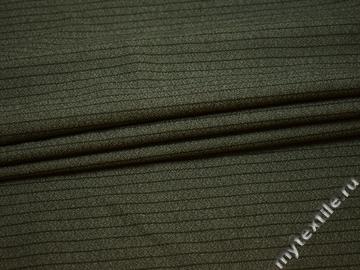 Костюмная ткань серая полоска шерсть ГД326