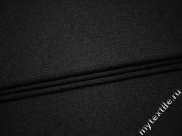Костюмная ткань тёмно-серая шерсть хлопок ГД336