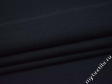 Костюмная ткань тёмно-синяя елочка хлопок ГД337