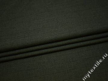 Костюмная ткань зеленая шерсть полиэстер ГД341
