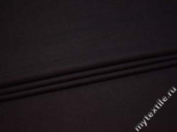 Костюмная темно-фиолетовая ткань шелк хлопок ГД43