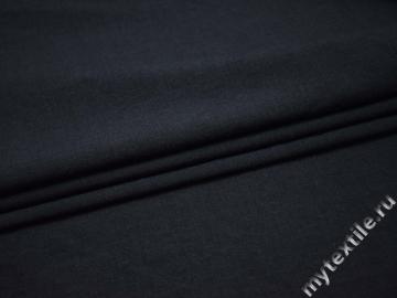 Костюмная синяя ткань шерсть ГД410