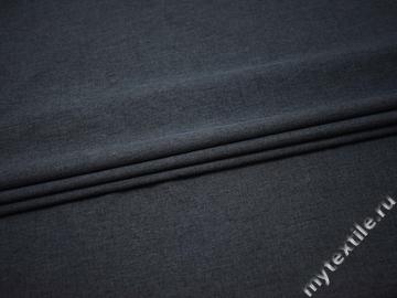 Костюмная синяя ткань полиэстер ВЕ538