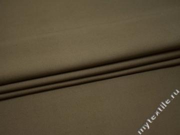 Костюмная серо-коричневая ткань хлопок ВЕ540
