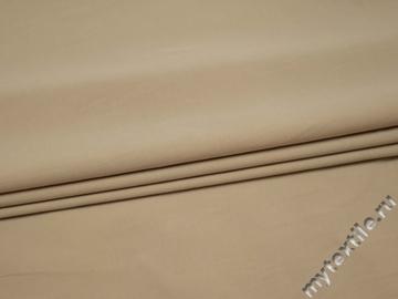 Костюмная бежевая ткань хлопок полиэстер эластан ВЕ546