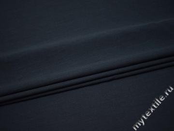 Костюмная тёмно-синяя ткань хлопок полиэстер ВЕ555