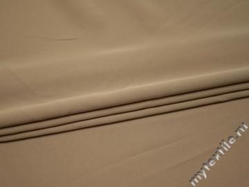Костюмная бежевая ткань полиэстер эластан ВЕ556