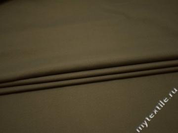 Костюмная цвета хаки ткань полиэстер ГГ53